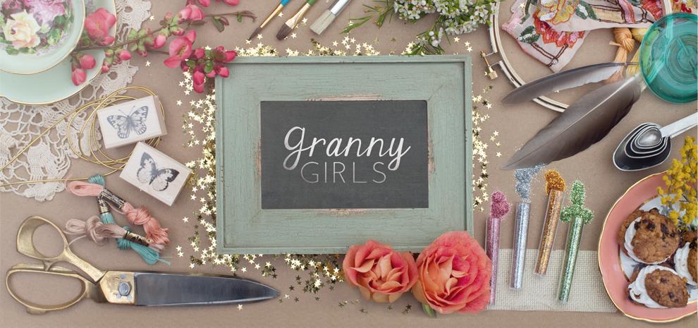 Granny Girls Polaroid Coasters